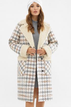 Пальто ПД-14-100. Цвет: 2449-лапка серый