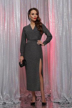 платье Цецилия д/р. Цвет: черный-серебро