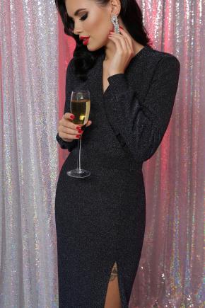 платье Цецилия д/р. Цвет: черный-синий