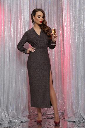 платье Цецилия д/р. Цвет: черный-бронза