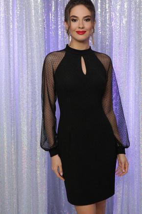 платье Маргарет д/р. Цвет: черный
