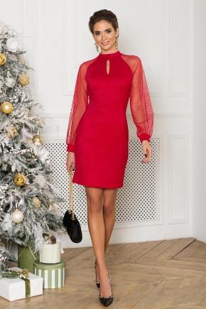 платье Маргарет д/р. Цвет: красный