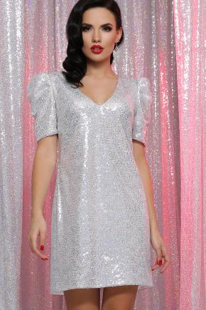 платье Элозия к/р. Цвет: белый хамелеон