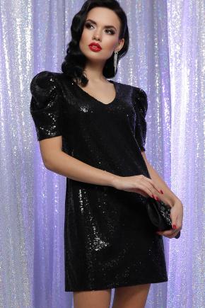 Платье Элозия к/р. Цвет: черный-черный