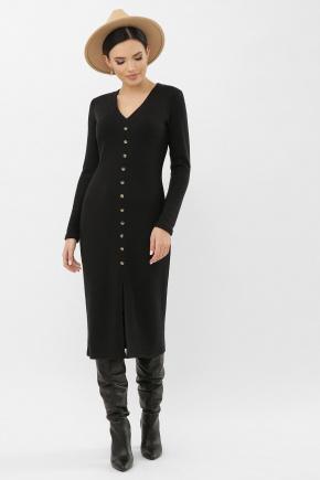 Платье Альвия д/р. Цвет: черный