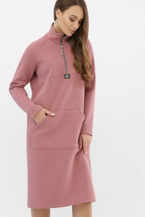 Платье Айсин д/р. Цвет: пыльная роза