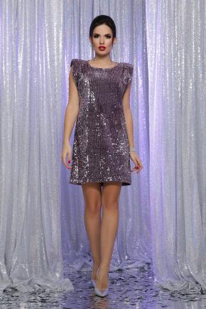 платье Авелина б/р. Цвет: т. лиловый-лиловый