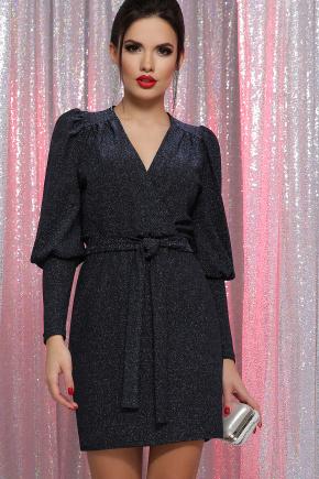 платье Зита д/р. Цвет: черный-синий
