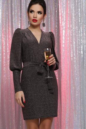платье Зита д/р. Цвет: черный-бронза