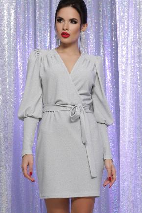 платье Зита д/р. Цвет: белый-серебро
