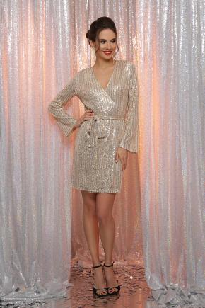 платье Земфира д/р. Цвет: золото-серебро