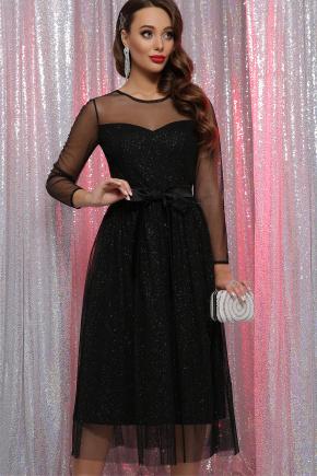 платье Маулина д/р. Цвет: черный