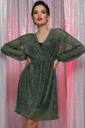 платье Рузалия д/р. Цвет: зеленый