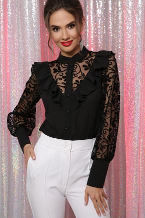 блуза Фиона д/р. Цвет: черный