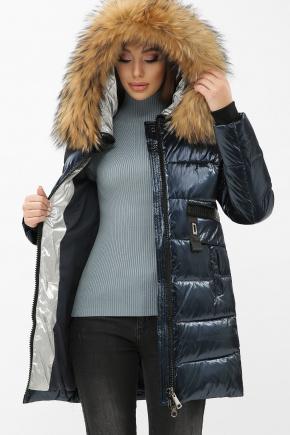 Куртка 8002. Колір: 02-синий-серебро