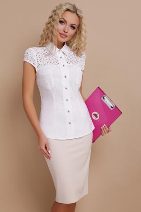 блуза Фауста к/р. Цвет: белый