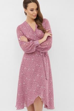 платье Алеста д/р. Цвет: лиловый-белый цветок