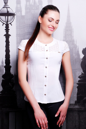 блуза Снежана к/р. Цвет: белый