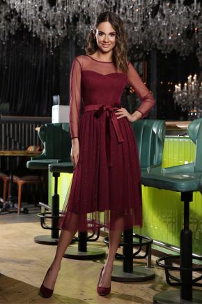 платье Маулина д/р. Цвет: бордо