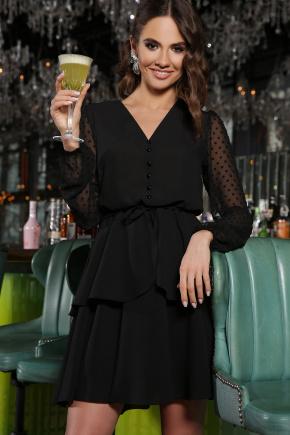 Платье Лора д/р. Цвет: черный