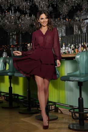 Платье Лора д/р. Цвет: бордо