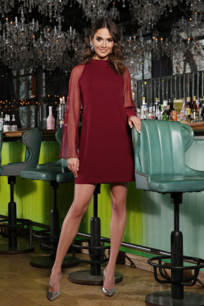 Платье Вилма д/р. Цвет: бордо
