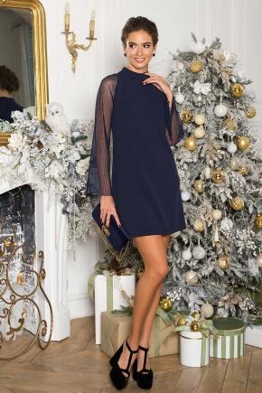Платье Вилма д/р. Цвет: синий