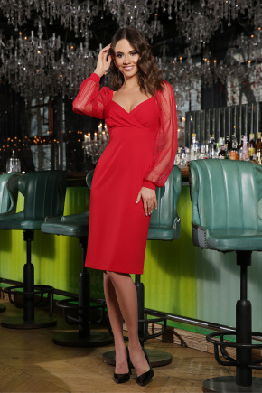 Платье Велия д/р. Цвет: красный