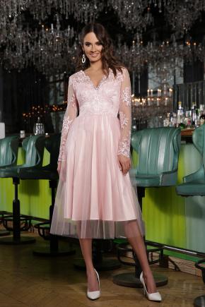 платье Марита д/р. Цвет: пудра