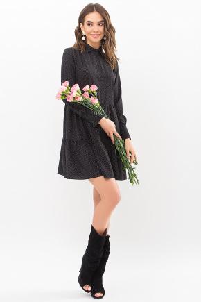 Платье Наваль д/р. Цвет: черный-точка белая
