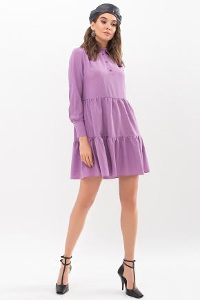 Платье Наваль д/р. Цвет: сирень-точка черная