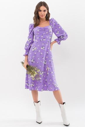 Платье Пала д/р. Цвет: сиреневый-белый букет