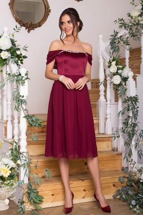 Платье Рузи б/р. Цвет: бордо