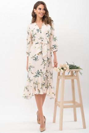Платье Сафура 3/4. Цвет: персик-ветка