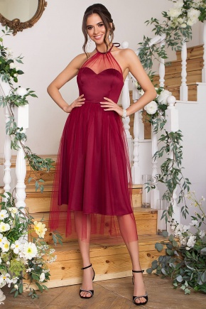 Платье Джена б/р. Цвет: бордо
