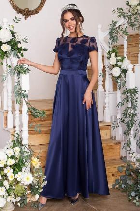 Платье Лорена к/р. Цвет: синий
