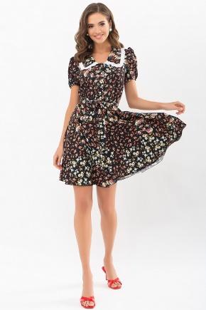 Платье Эйми к/р. Цвет: черный-м. розы