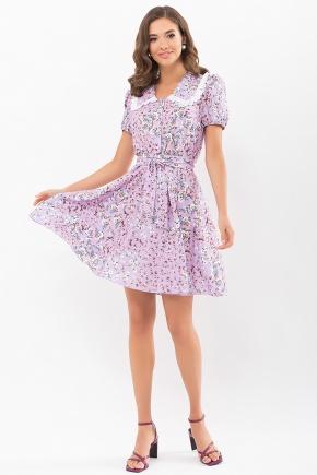 Платье Эйми к/р. Цвет: св.сиреневый-м. розы