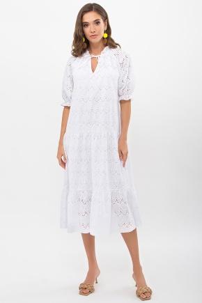 Платье Ирит к/р. Цвет: белый