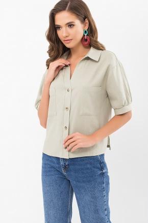 Блуза Илюза к/р. Цвет: оливковый