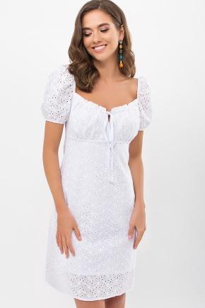 Платье Бажена к/р. Цвет: белый