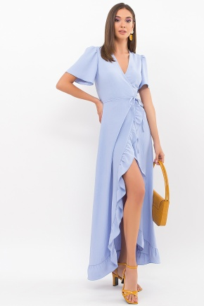 Платье Румия-1 к/р. Цвет: голубой