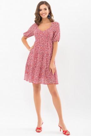 Платье Хестер к/р. Колір: красный-м.цветы