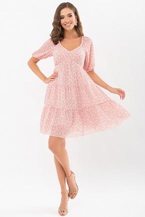 Платье Хестер к/р. Колір: молоко-м. цветы