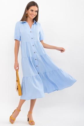Платье Иветта к/р. Цвет: голубой