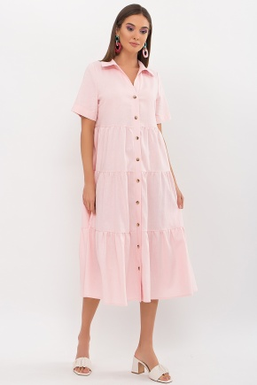 Платье Иветта к/р. Цвет: пудра