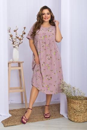 Платье Ирма-Б к/р. Цвет: лиловый-цветы-ягоды
