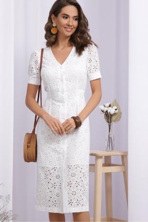 Платье Клера к/р. Цвет: белый