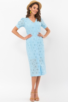 Платье Клера к/р. Цвет: голубой