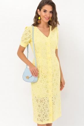 Платье Клера к/р. Цвет: желтый